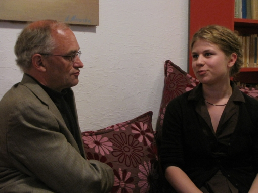 Michael Dobbs with Marta Mazur